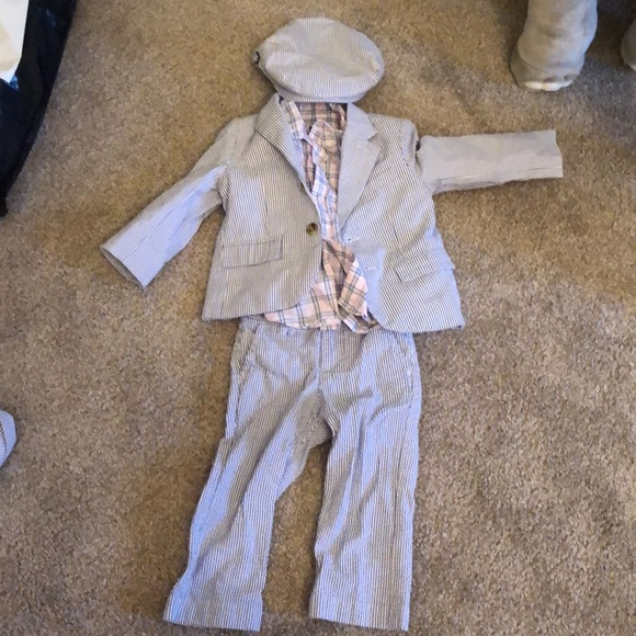 Janie And Jack Matching Sets Seersucker Suit Partially Nwt